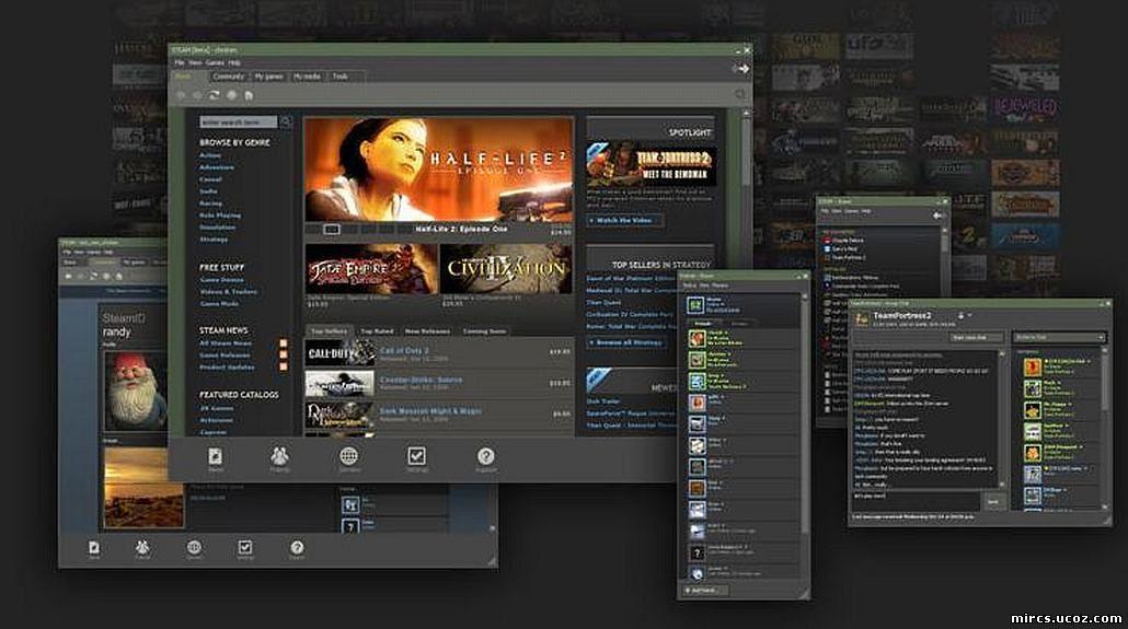 Cracked Steam SteamUpВзломанный Steam client для загрузки и установки